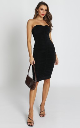 Showpo Stay in Touch Dress in black - 8 (S) Dresses
