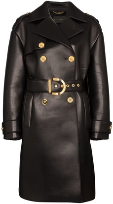 Versace Lambskin Leather Trench Coat