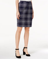 Tommy Hilfiger Tweed Plaid Pencil Skirt
