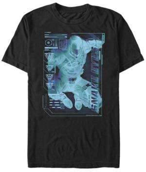 Fifth Sun Men's G.i.Joe Snake Eyes Schematic Short Sleeve T-Shirt