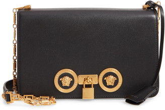 Versace Medium Icon Leather Shoulder Bag