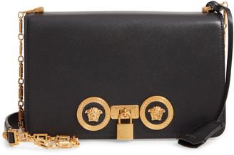 Versace Medium Icon Leather Shoulder Bag