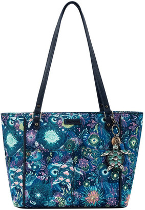 The Sak 108779ROY Artist Circle Double Handle Tote Bag
