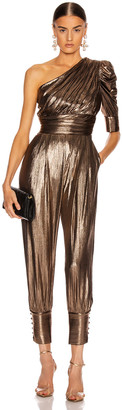 retrofete for FWRD Thambi Jumpsuit in Bronze | FWRD