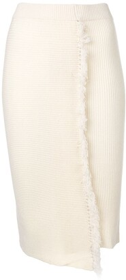Cashmere In Love High-Waisted Fringed Skirt