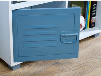 Lloyd Pascal Edison Metal Locker4 Cube Storage-Blue
