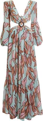 PatBO Cut-Out Maxi Beach Dress