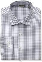 Kenneth Cole Reaction Men's Technicole Slim Fit Stretch Windowpane Check Dress Shirt