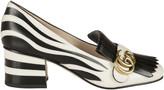 Gucci Marmont Zebra Print Pumps