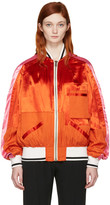 Haider Ackermann Orange Patchwork Bomber Jacket