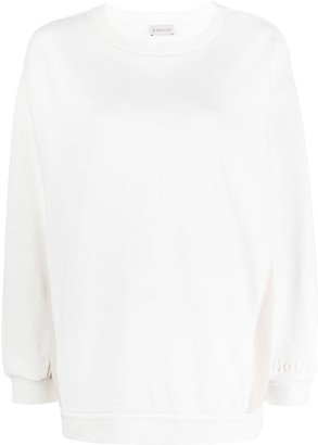 Moncler Contrast-Panel Logo-Embossed Sweatshirt