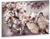 Graham & Brown Glitter Butterfly and Branch Canvas Wall Art