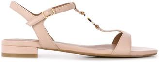 Emporio Armani Low-Heel Logo Sandals