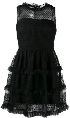RED Valentino short frilled dress