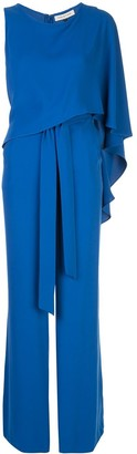 Halston Draped Jumpsuit