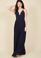 Beautifully By Your Side Maxi Dress in Midnight Blue in S