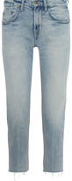 Thumbnail for your product : Current/Elliott The His Cropped Distressed Boyfriend Jeans