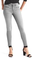 Gap Mid rise zip pocket true skinny ankle jeans