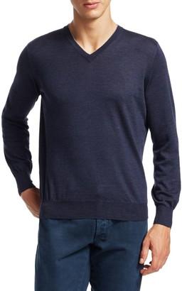 Brunello Cucinelli Wool & Cashmere V-Neck Pullover