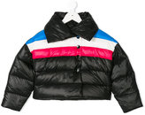 Diesel striped padded jacket