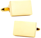 Ox & Bull Trading Co. Men's Stainless Steel Gold Block Cufflinks