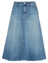 Mother Double Fray Circle Denim Skirt