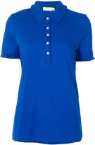 Tory Burch scalloped polo top