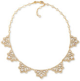 Carolee Gold-Tone Filigree Crystal Collar Necklace