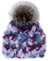 Glamour Puss Glamourpuss Fox Fur Pom-Pom Beanie