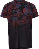 River Island Boys Black floral fade print T-shirt