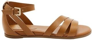 GUESS Cocco Tan Flat Sandal