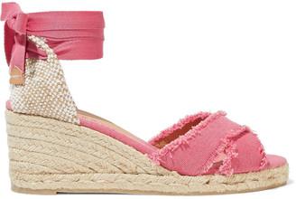 Castaner Bluma Cotton-canvas Wedge Espadrille Sandals