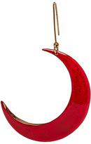 Stella McCartney Brass and Enamel Moon Single Earring