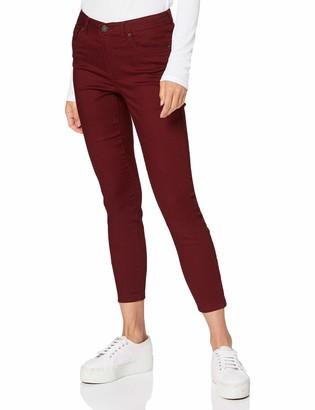 Vero Moda Women's VMTANYA MR S Piping ANK Zip J CLR Color Jeans