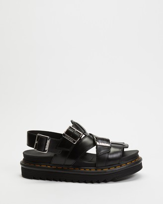 Dr. Martens Women's Black Flat Sandals - Terry II Slide Sandals - Women's - Size 5 at The Iconic