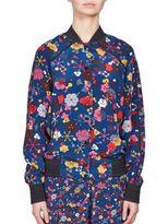 Kenzo Tanami Silk Floral Bomber Jacket