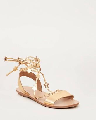 Loeffler Randall Starla Ankle Wrap Sandal Gold