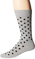 Happy Socks Men's 1 Pack Unisex Combed Cotton Crew-Grey Dots