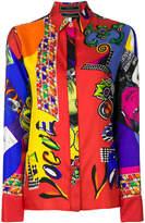 Versace mixed print shirt