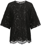 ADAM by Adam Lippes short bell-sleeved lace top