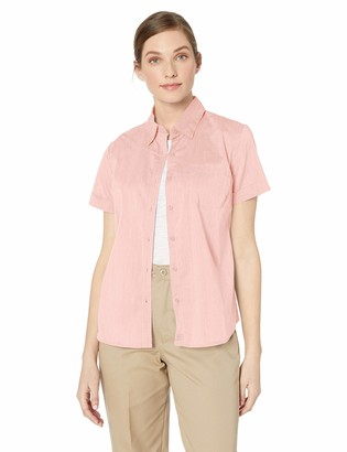 Dickies Women's Stretch Poplin Button-Up Short Sleeve Shirt