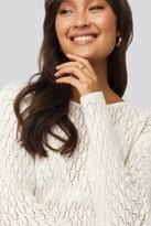 NA-KD Lace Stitch Round Neck Sweater Black