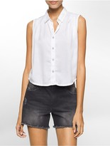 Calvin Klein Garment-Dyed Sleeveless Top