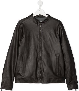Paolo Pecora Kids TEEN faux leather bomber jacket