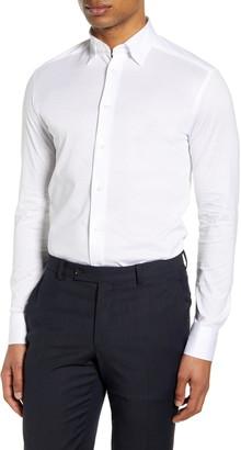 Eton Soft Casual Line Slim Fit Pique Knit Shirt