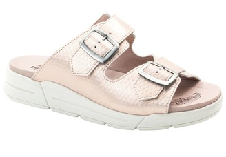 Dromedaris Slip-On Leather Sandals - Terry