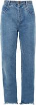 Chloé Frayed-hem wide-leg jeans