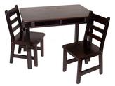 Lipper Espresso Finish Child's Table & Chair Set