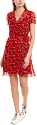 Anna Sui My Heart's Shadow Silk Wrap Dress