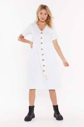 The One Nasty GalNasty Gal Womens I Could V Button-Up Midi Dress - White - 10, White